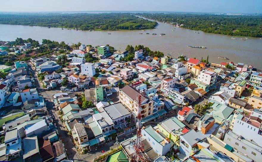 Vĩnh Long: Hơn 180 tỷ đồng xây dựng công trình Kè thị trấn Trà Ôn