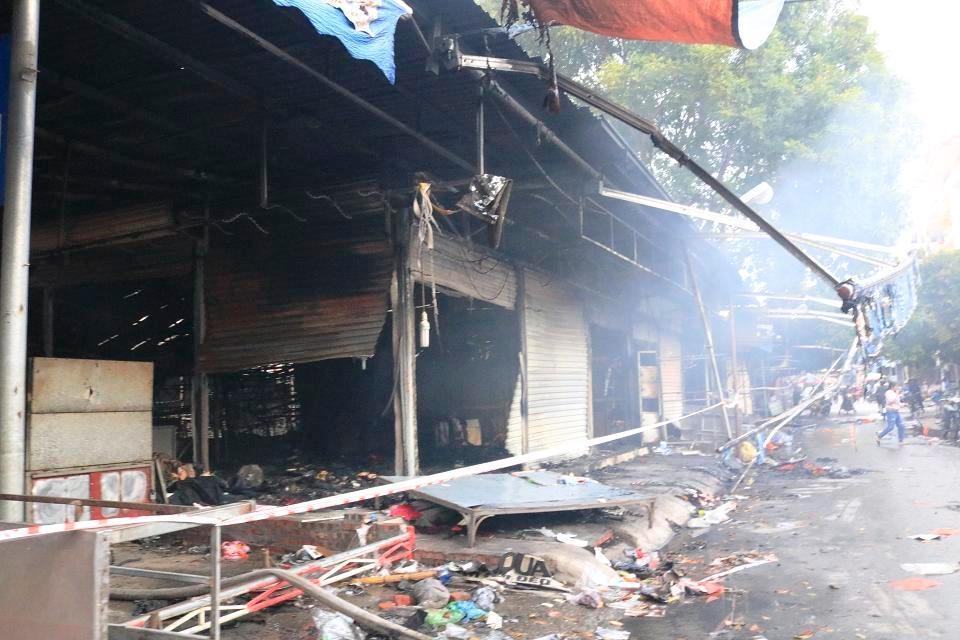 Thủy Nguyên (Hải Phòng): Cháy lớn tại chợ Núi Đèo
