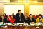 Đoàn kiểm tra của Ủy ban Quốc gia Vì sự tiến bộ của phụ nữ Việt Nam làm việc tại Bộ Xây dựng