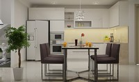 Những lưu ý khi đặt phòng ăn đi liền với nhà bếp