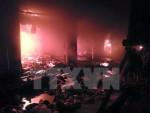 Chập điện gây cháy 4 gian hàng, thiệt hại gần chục tỷ đồng