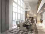 Phong cách tân cổ điển trong phòng khách căn hộ penthouse