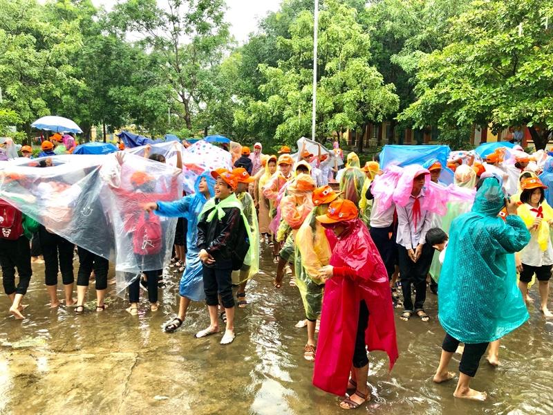 Quảng Nam: Diễn tập ứng phó sóng thần trong trường học
