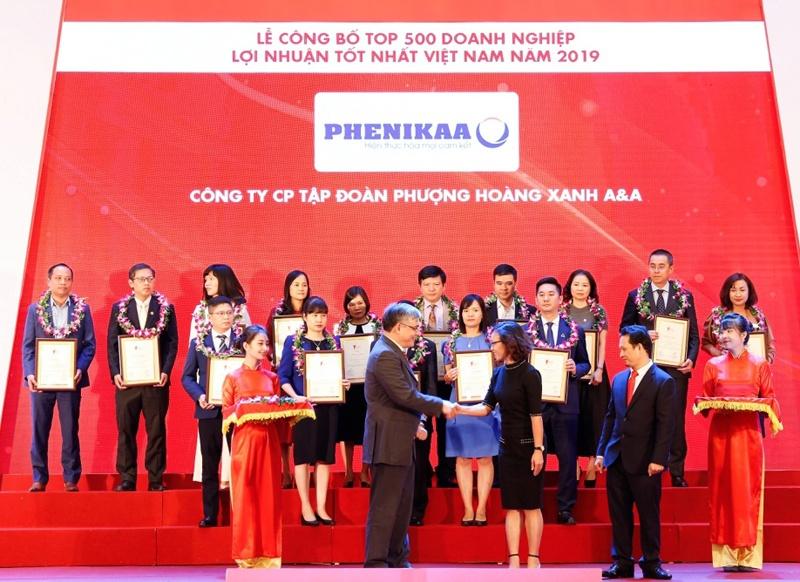 phenikaa va vicostone duoc vinh danh top 500 doanh nghiep co loi nhuan tot nhat viet nam 2019