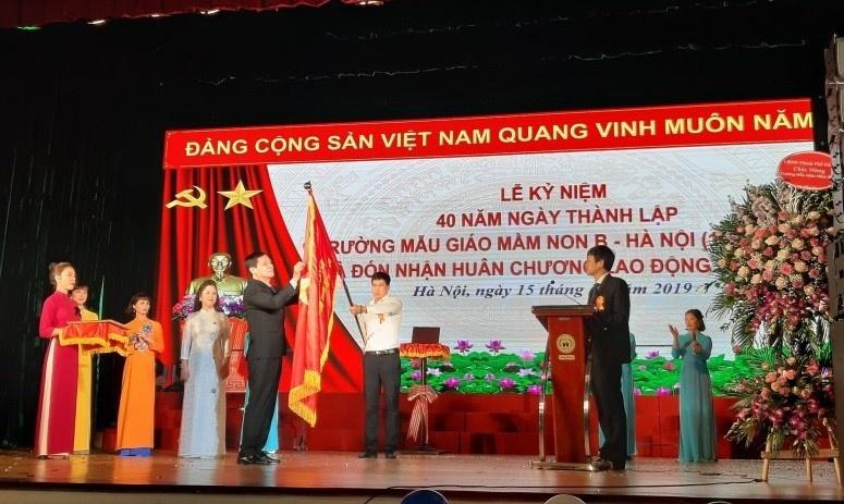 Trường Mẫu giáo mầm non B Hà Nội: Kỷ niệm 40 năm thành lập và đón nhận Huân chương Lao động hạng Nhì