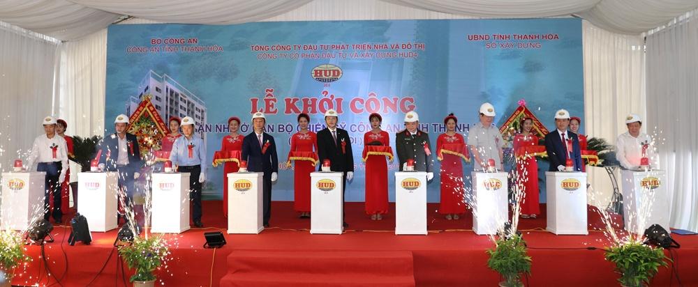 HUD4 khởi công dự án nhà ở xã hội dành cho cán bộ chiến sỹ công an tỉnh Thanh Hóa