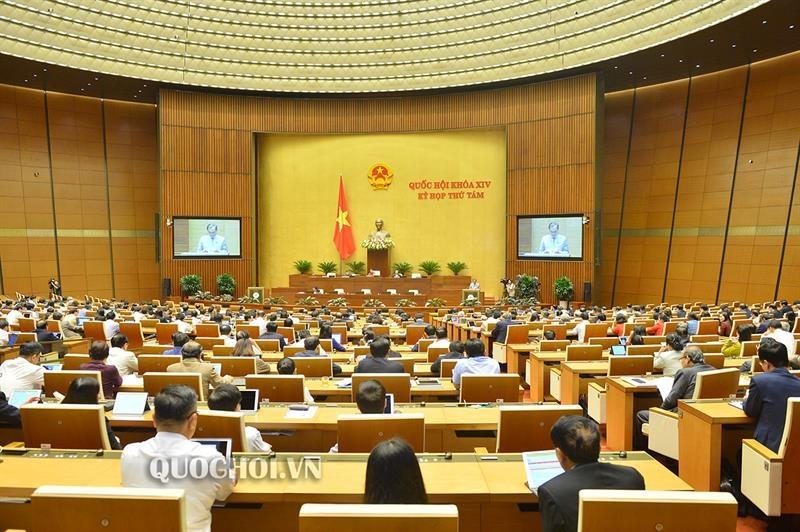 Quốc hội thảo luận tại hội trường về dự án Luật Xây dựng sửa đổi