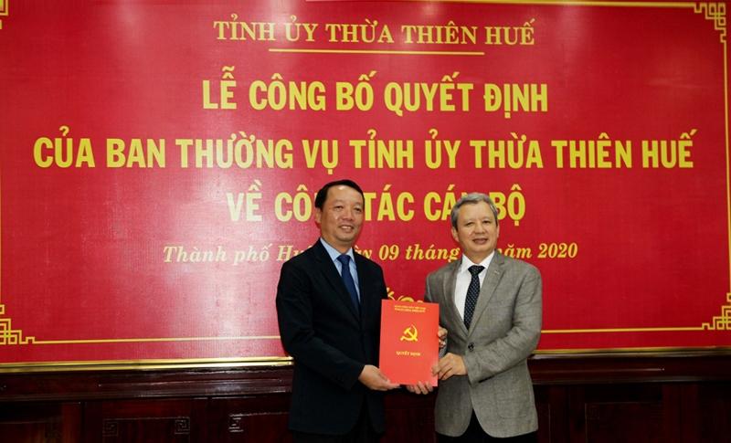 Đồng chí Phan Thiên Định giữ chức Bí thư Thành ủy Huế