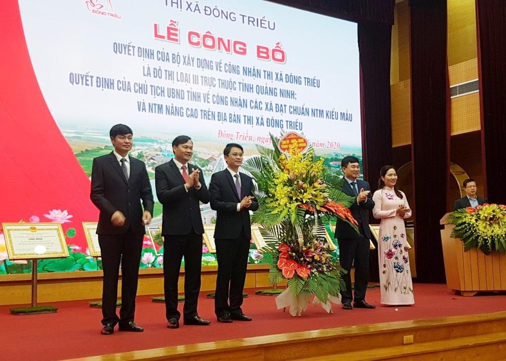 Quảng Ninh: Công bố quyết định công nhận Đông Triều là đô thị loại III