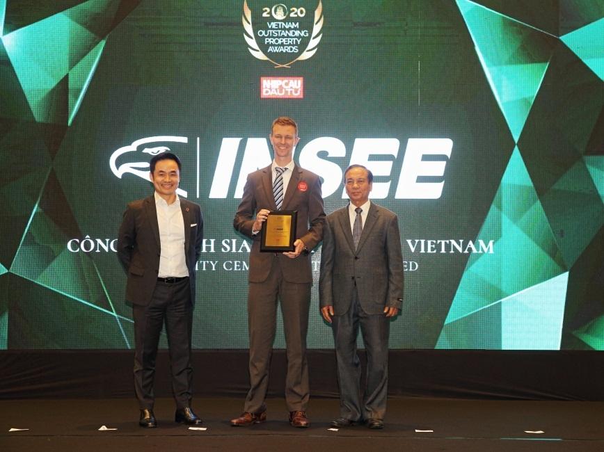 """INSEE Việt Nam nhận danh hiệu """"Đơn vị xây dựng và cung cấp vật liệu tiêu biểu 2020"""""""