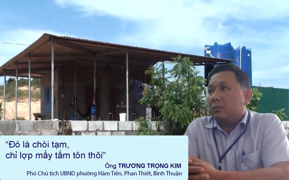 """Bình Thuận: Bất thường """"chòi tạm"""" giữa đồi trọc"""