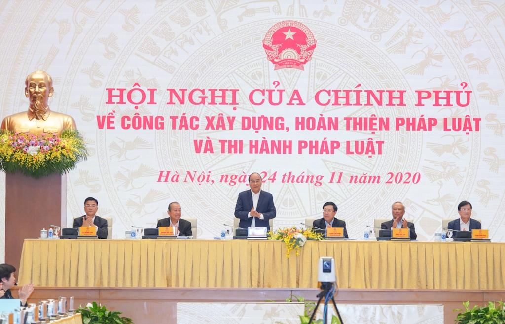 Hội nghị của Chính phủ về hoàn thiện và thi hành pháp luật