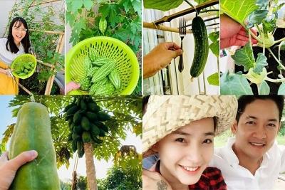 Khám phá khu vườn xanh mướt trong biệt thự của Hải Băng - Thành Đạt