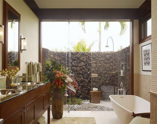 Những ý tưởng thiết kế phòng tắm phong cách nhiệt đới