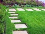 Trang trí vườn đẹp từ gạch block và gạch terrazzo