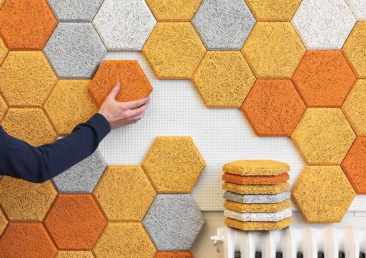 Gạch ốp tường bằng sợi gỗ thân thiện với môi trường, bền và mang tính thẩm mỹ cao.