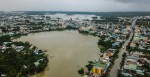 Toàn cảnh đô thị Tam Kỳ ngập sâu trong mưa lũ