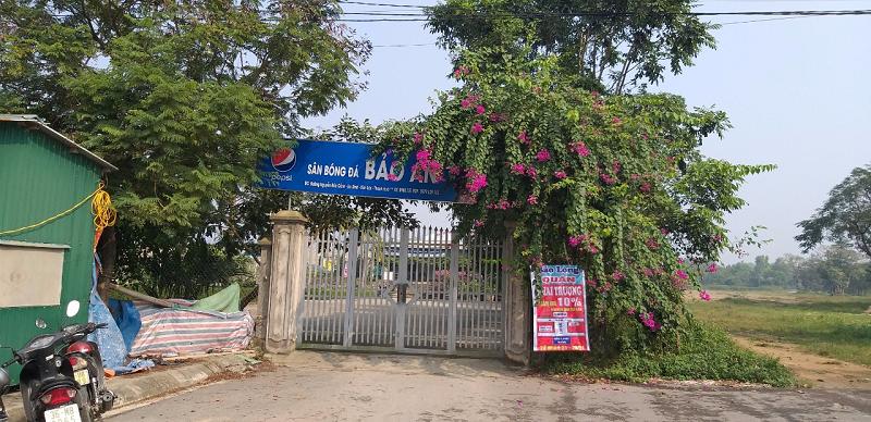 Bỉm Sơn (Thanh Hóa): Bí thư phường Ngọc Trạo xây dựng nhà và sân bóng trên đất lâm nghiệp