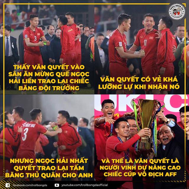 """Loạt ảnh """"chế"""" hài hước của dân mạng sau khi ĐT Việt Nam lên ngôi vương AFF Cup"""