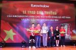Eurowindow tổ chức lễ trao thưởng cho đội tuyển bóng đá Việt Nam