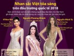 Nhan sắc Việt tỏa sáng trên đấu trường quốc tế 2018