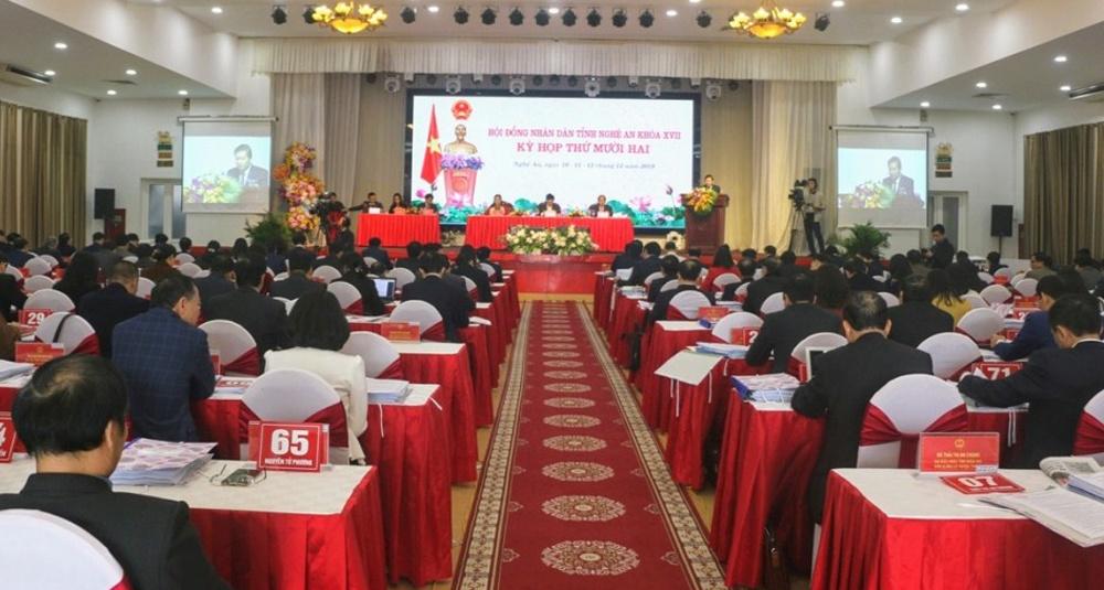 Nghệ An: Khai mạc kỳ họp thứ 12 HĐND tỉnh