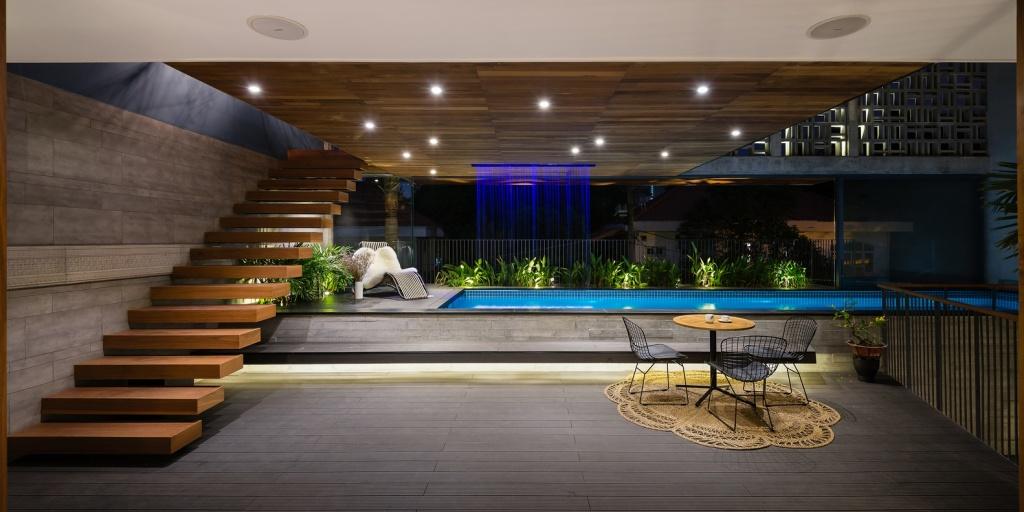 Ngôi nhà tại TP.HCM với thiết kế bể bơi bên trong