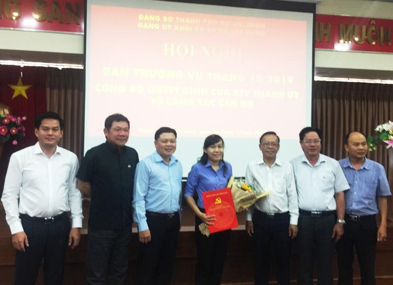 Công bố quyết định Ủy viên Ban Thường vụ Đảng ủy Khối cơ sở Bộ Xây dựng tại thành phố Hồ Chí Minh