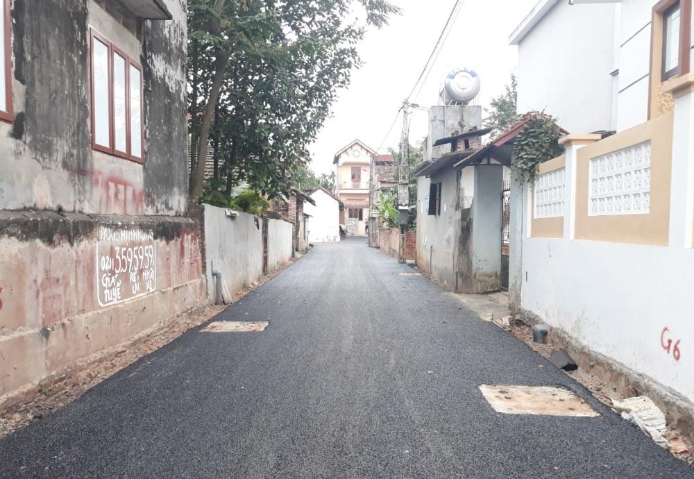 Yên Lạc (Vĩnh Phúc): Xã Nguyệt Đức tập trung đầu tư nâng cấp các tuyến đường giao thông nông thôn