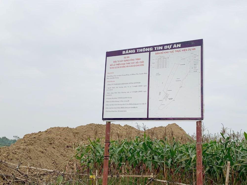 Chủ tịch UBND tỉnh Bắc Giang yêu cầu kiểm tra, rà soát dự án khai thác khoáng sản của Công ty Dũng An Phát