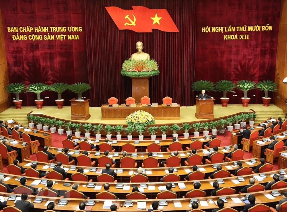 Hình ảnh Bế mạc Hội nghị lần thứ 14 Ban Chấp hành Trung ương Đảng