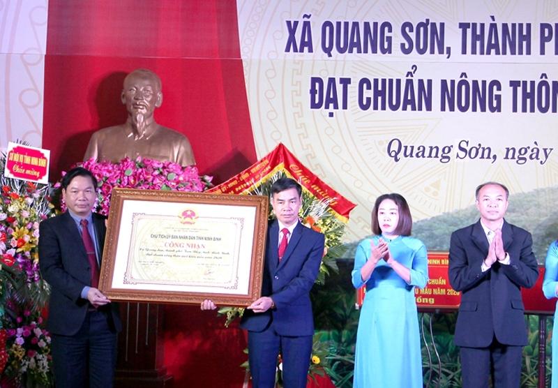 Tam Điệp (Ninh Bình): Quang Sơn được công nhận xã đạt chuẩn nông thôn mới kiểu mẫu 2020