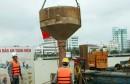 Đà Nẵng: Đổ bê-tông đợt đầu tiên bịt đáy trụ P2 cầu Rồng