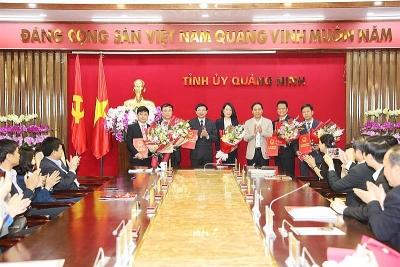 Nhân sự mới Quảng Ninh, thành phố Hồ Chí Minh