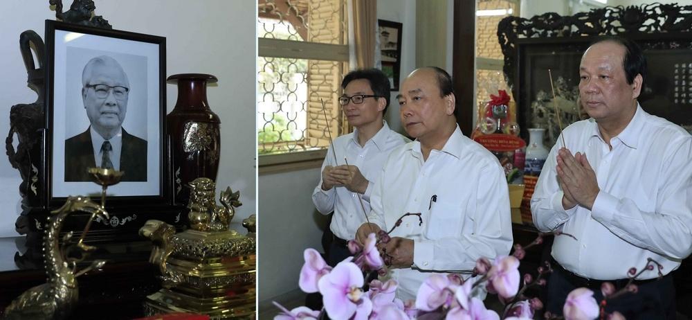 Thủ tướng dâng hương các đồng chí nguyên lãnh đạo Đảng, Nhà nước, Chính phủ đã từ trần
