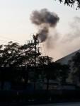 Quảng Ninh: Cháy cột điện trước cổng công ty điện lực