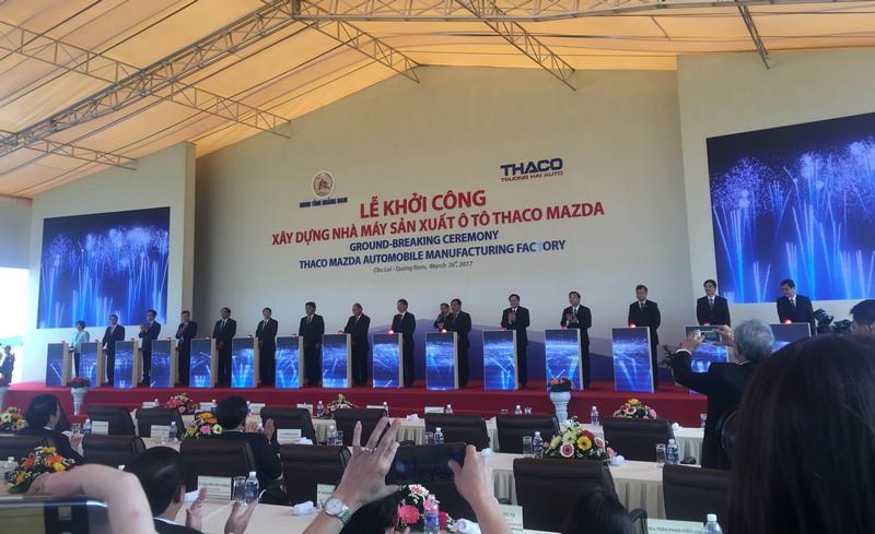 Thaco đầu tư 520 triệu USD khởi công nhà máy Mazda tại Quảng Nam