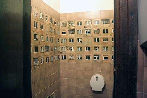 Khu vệ sinh khiến nhiều người giật mình lúc bước vào