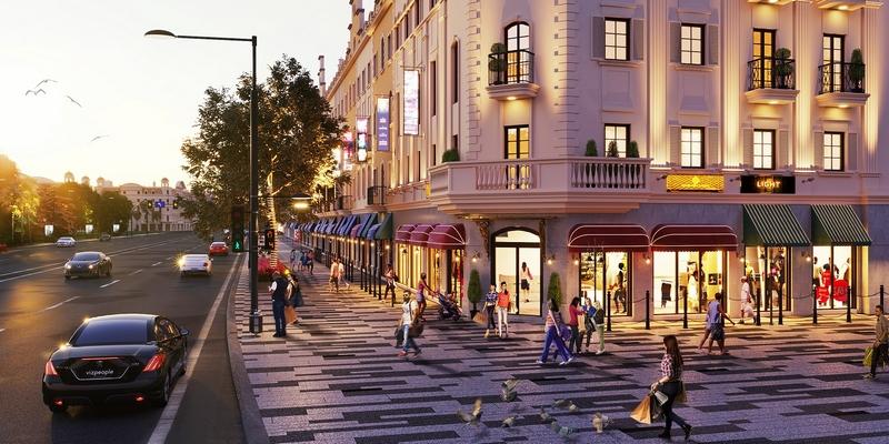 Tiểu khu Elysee - Shophouse Europe: Kết tinh kiến trúc và thời trang hoa lệ từ nước Pháp