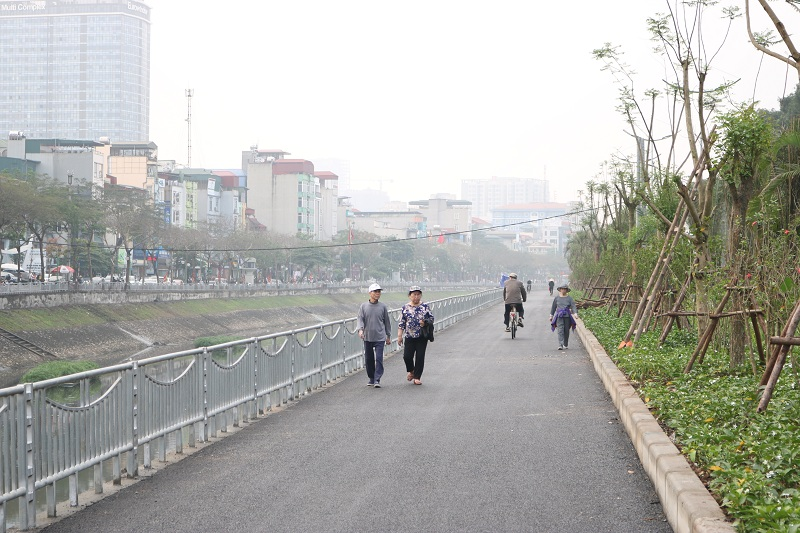 Hà Nội: Sắp đi vào hoạt động tuyến đường đi bộ cạnh đường Láng