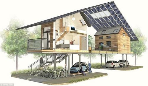 140223baoxaydung 3 Tham quan bên trong căn nhà siêu mỏng 7m2 có chỗ đỗ xe