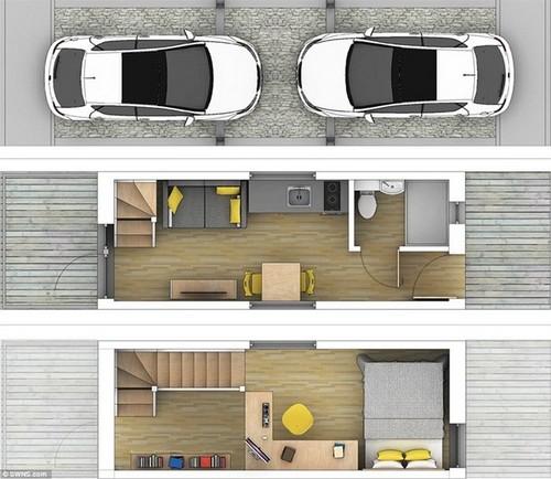 140323baoxaydung 10 Tham quan bên trong căn nhà siêu mỏng 7m2 có chỗ đỗ xe