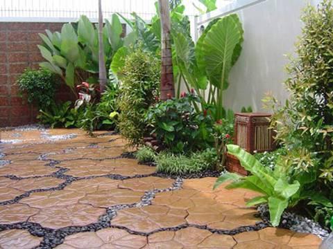 Lối đi sân vườn sang – sáng – sạch với gạch lát - ảnh 5