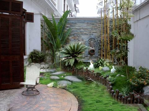 Lối đi sân vườn sang – sáng – sạch với gạch lát - ảnh 6