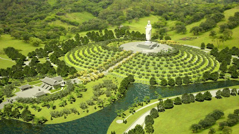Báo xây dựng: Tượng Phật A Di Đà cao 48m sắp được khánh thành tại Phú Thọ