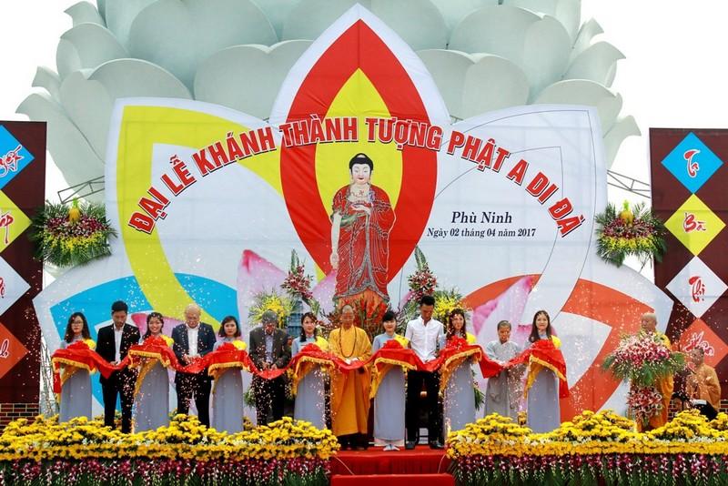 Công viên tưởng niệm Thiên Đức khánh thành tượng Phật A Di Đà cao 48m