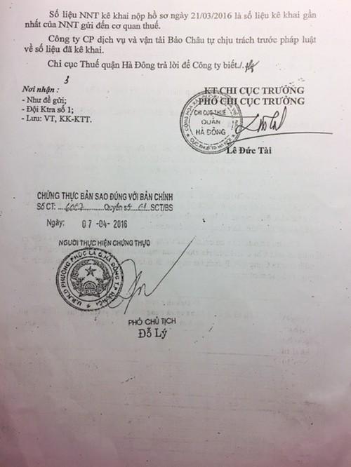Đề nghị Cục thuế Hà Nội kiểm tra dấu hiệu bất thường tại Chi cục thuế Hà Đông - Ảnh 2