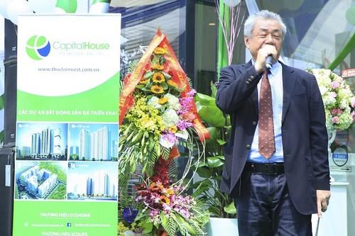 Ông Koyama – TGĐ PMC Nhật Bản, đại diện đơn vị quản lý chung cư EcoLife Capitol.