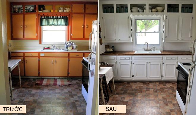 Khác biệt không ngờ khi thay đổi màu sơn căn bếp