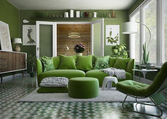 Những kiểu phòng khách tuyệt đẹp, xanh mướt 'giải nhiệt' cho ngày hè